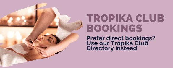 Tropika Club Bookings Bar - Desktop